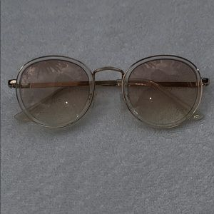 Urban outfitters round frame clear sunglasses
